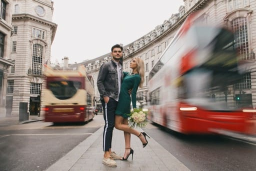Stunning couple photoshoot in Mayfair